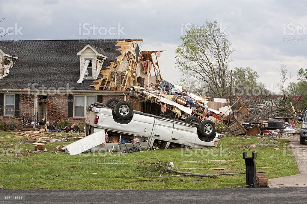 Tornado Victims stock photo