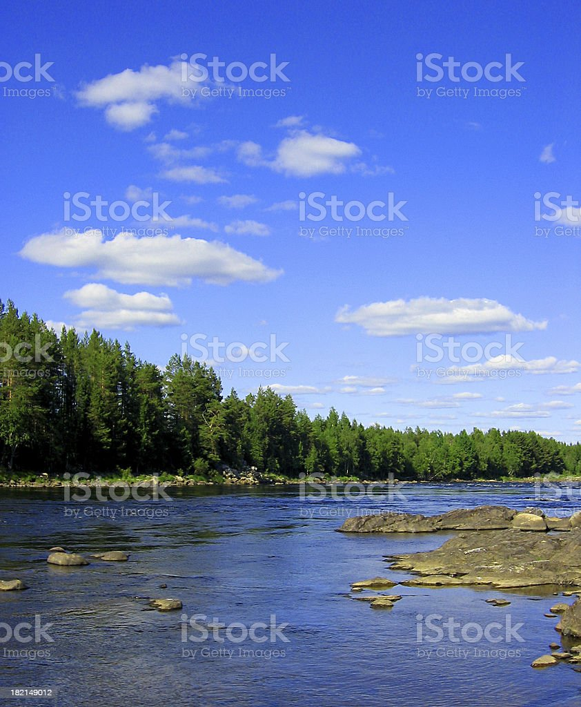Tornio river royalty-free stock photo