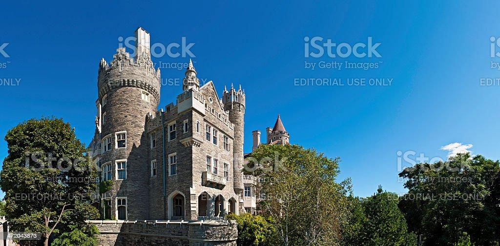 Toronto Casa Loma historic castle summer panorama Canada stock photo