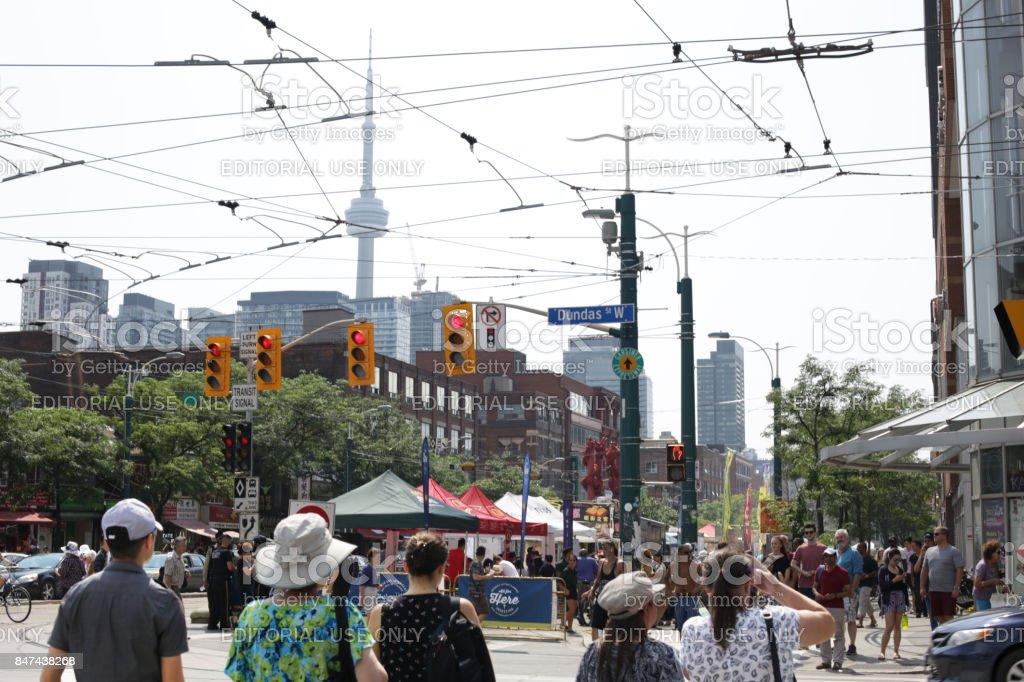 Toronto Chinatown Festival, Spadina Avenue and Dundas Street stock photo