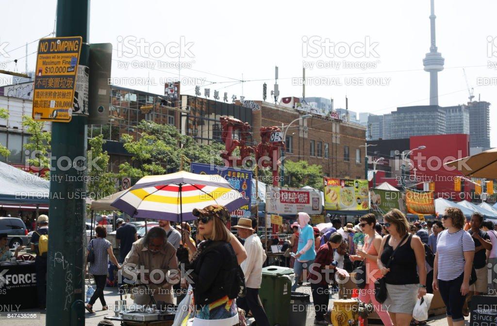 Toronto Chinatown Festival, Spadina Avenue in Summer stock photo
