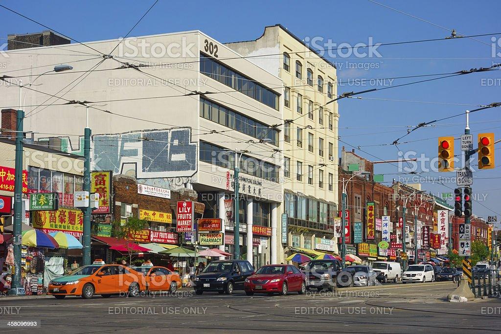 Toronto Chinatown stock photo