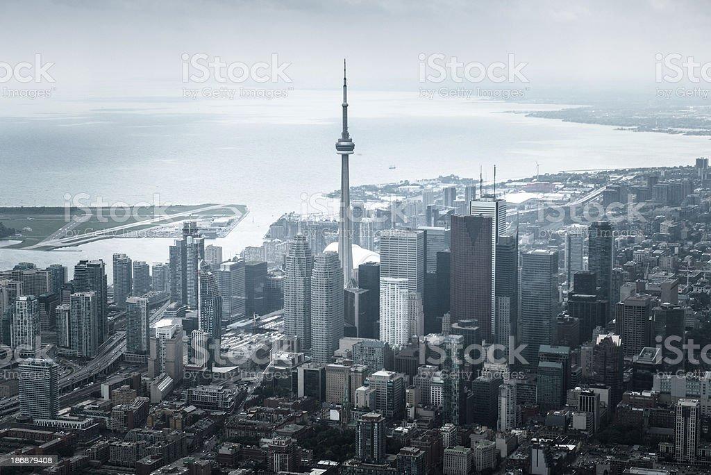 Toronto city aerial view stock photo
