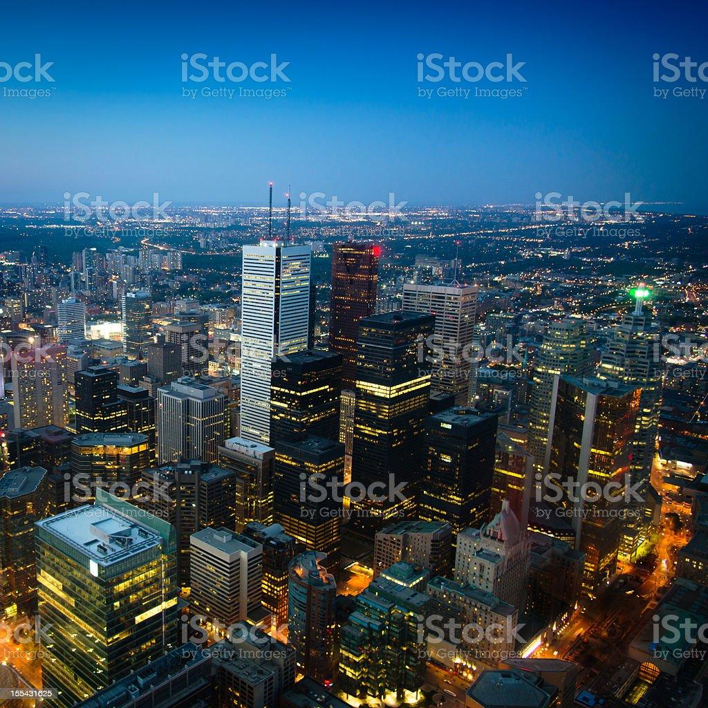 Toronto City by Night Ontario Canada royalty-free stock photo