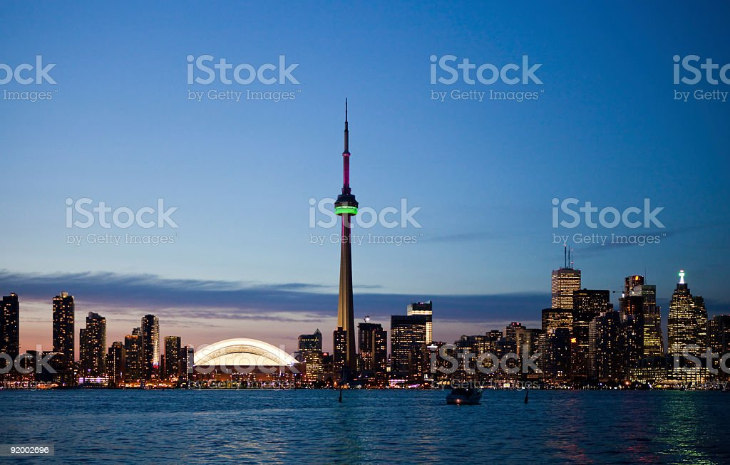 Toronto City Center Skyline royalty-free stock photo
