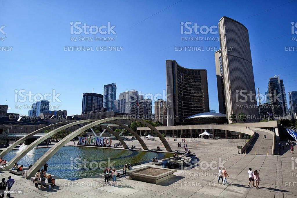 Toronto City Hall Square in summer, Canada stock photo