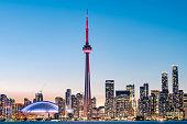 istock Toronto city skyline at night, Ontario, Canada 1215957337