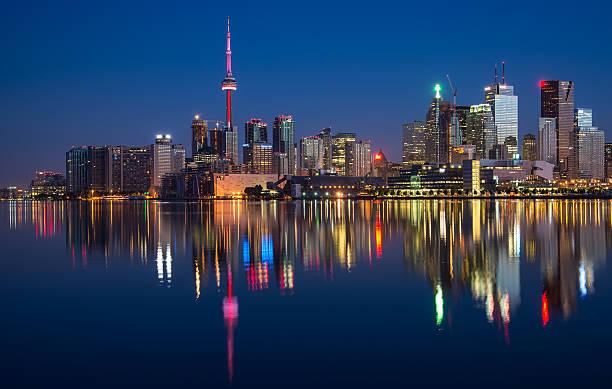 Toronto City Skyline Reflection stock photo
