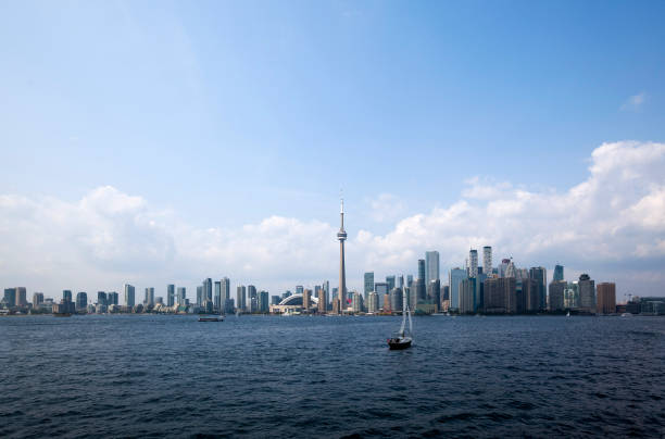 Toronto City view from The Island stock photo
