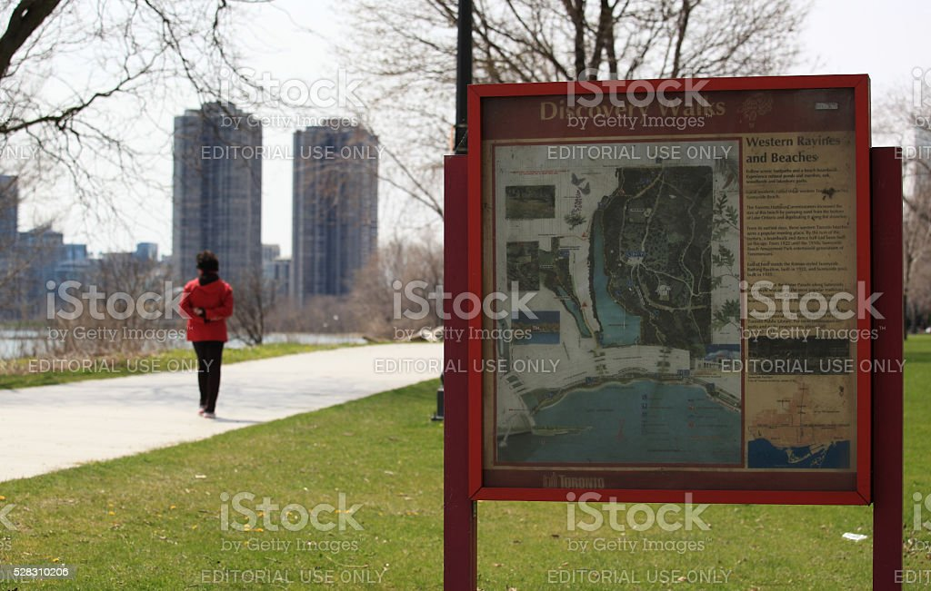 Toronto discovery walk sign - Royalty-free Active Lifestyle Stock Photo