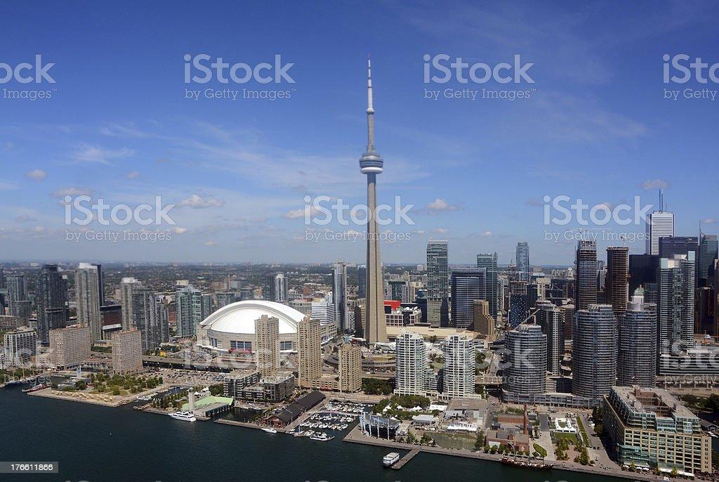 Toronto Downtown, Aerial view stock photo