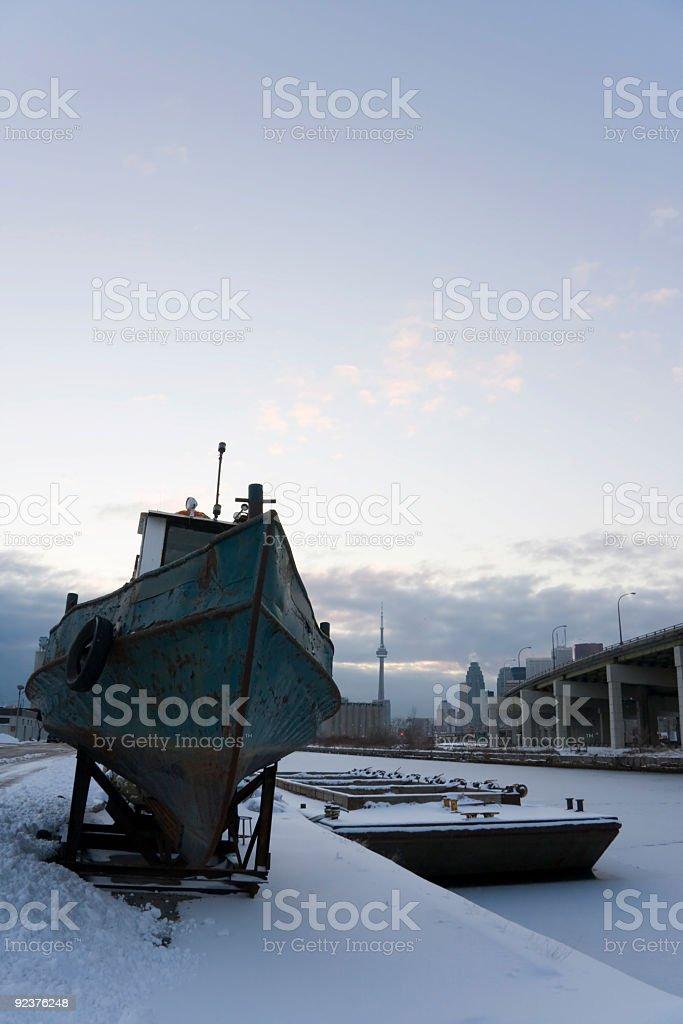 Toronto Drydocked Boat royalty-free stock photo