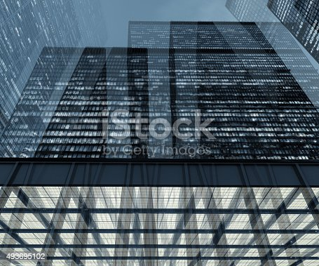 istock Toronto Financial District at night 493695102