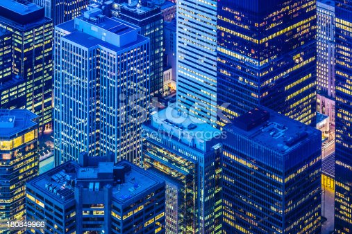 istock Toronto financial district cityscape at dusk 180849966