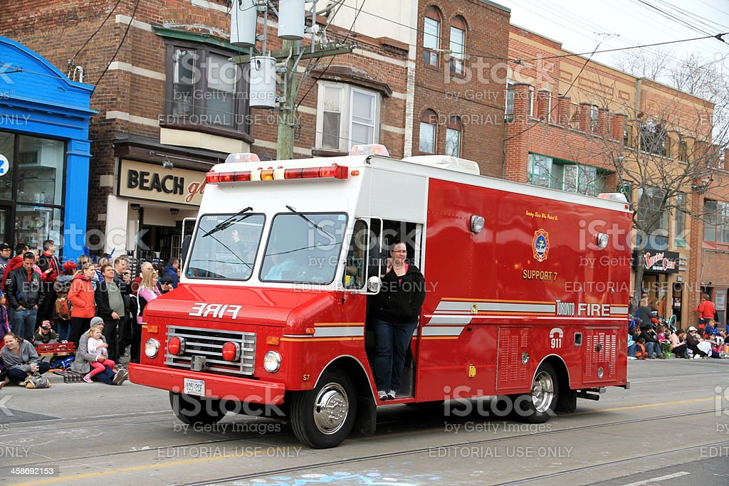 Toronto Fire Vehicle royalty-free stock photo