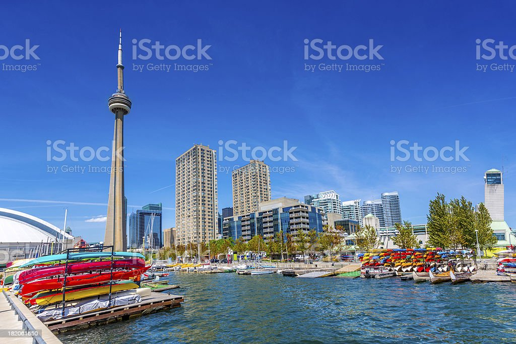 Toronto Harbour Front in Summer Canada stock photo