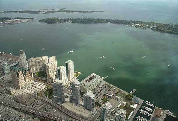 Toronto Harbour stock photo