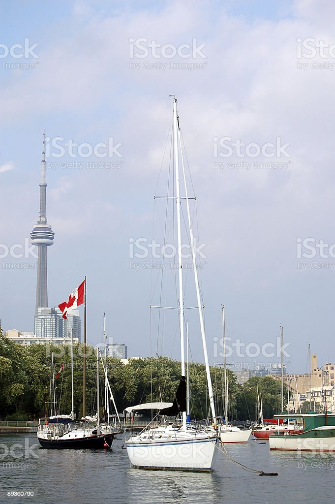 Toronto harbour view royaltyfri bildbanksbilder