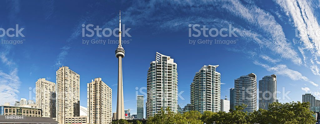 Toronto high rise cityscape panorama CN Tower luxury condominiums Canada royalty-free stock photo