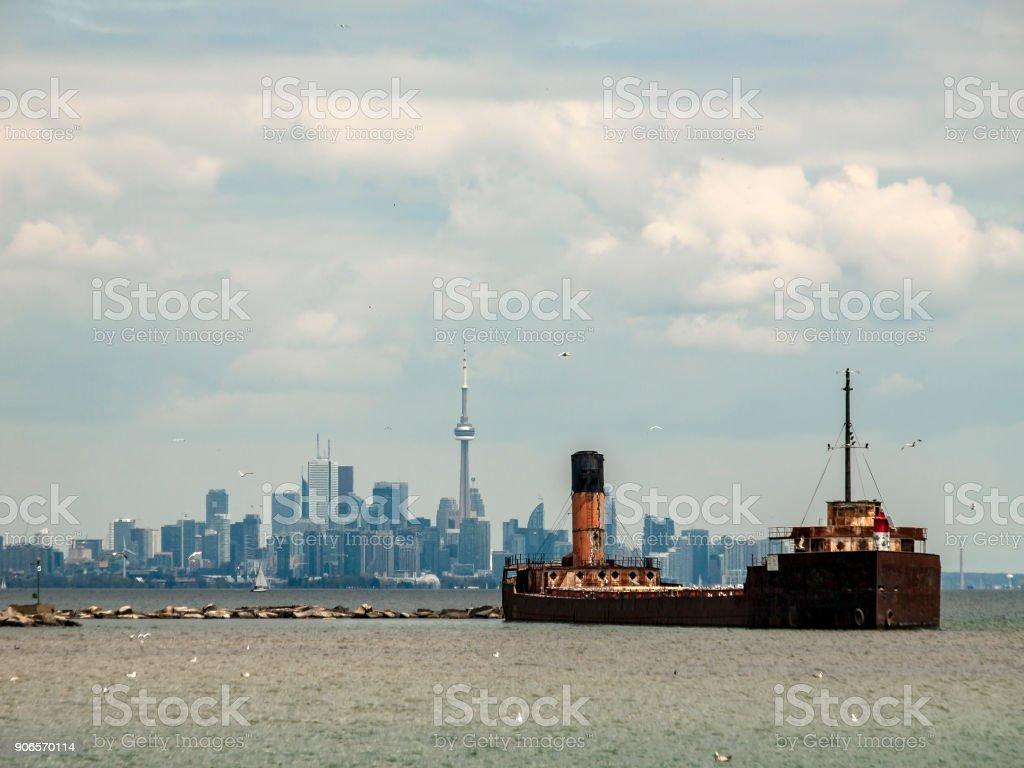 Toronto in tow stock photo