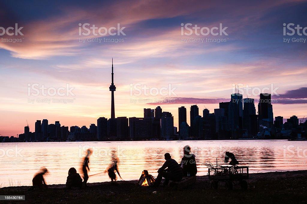 Toronto Island Family Picnic Canada stock photo
