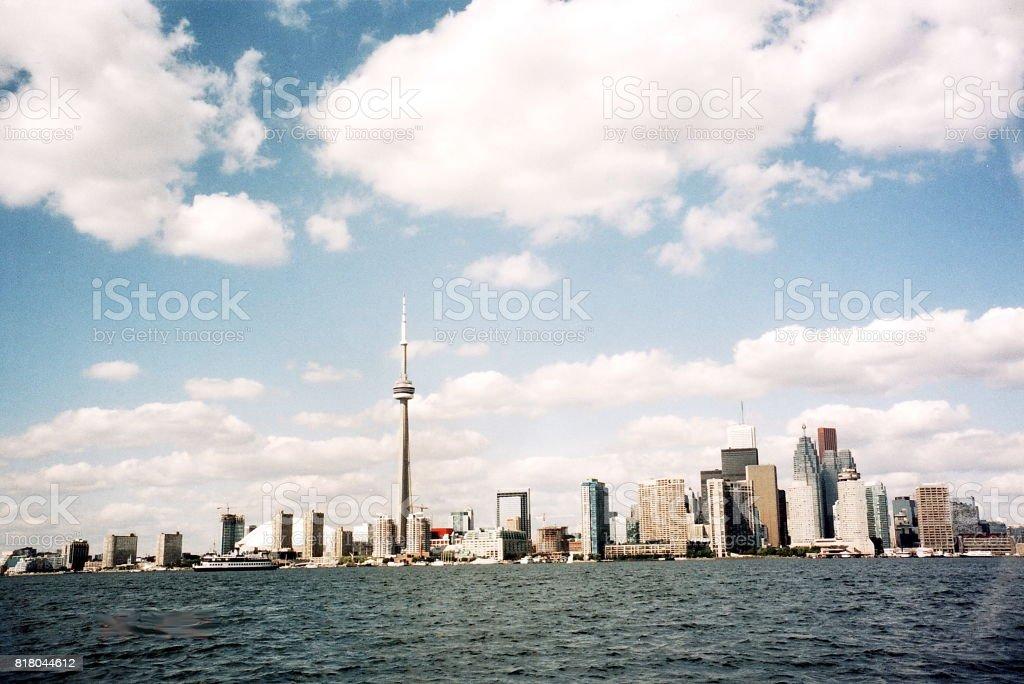 Toronto Lake panorama 2002 stock photo