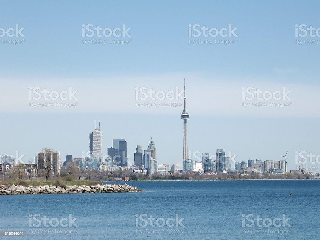Toronto Lake panorama 2007 stock photo