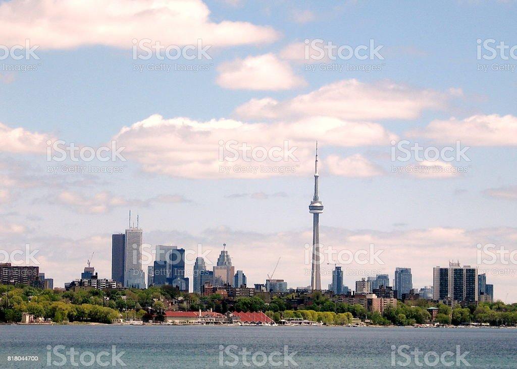Toronto Lake panorama 2008 stock photo