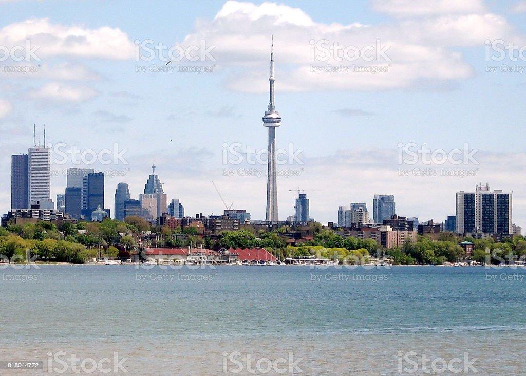 Toronto Lake panorama May 2008 stock photo