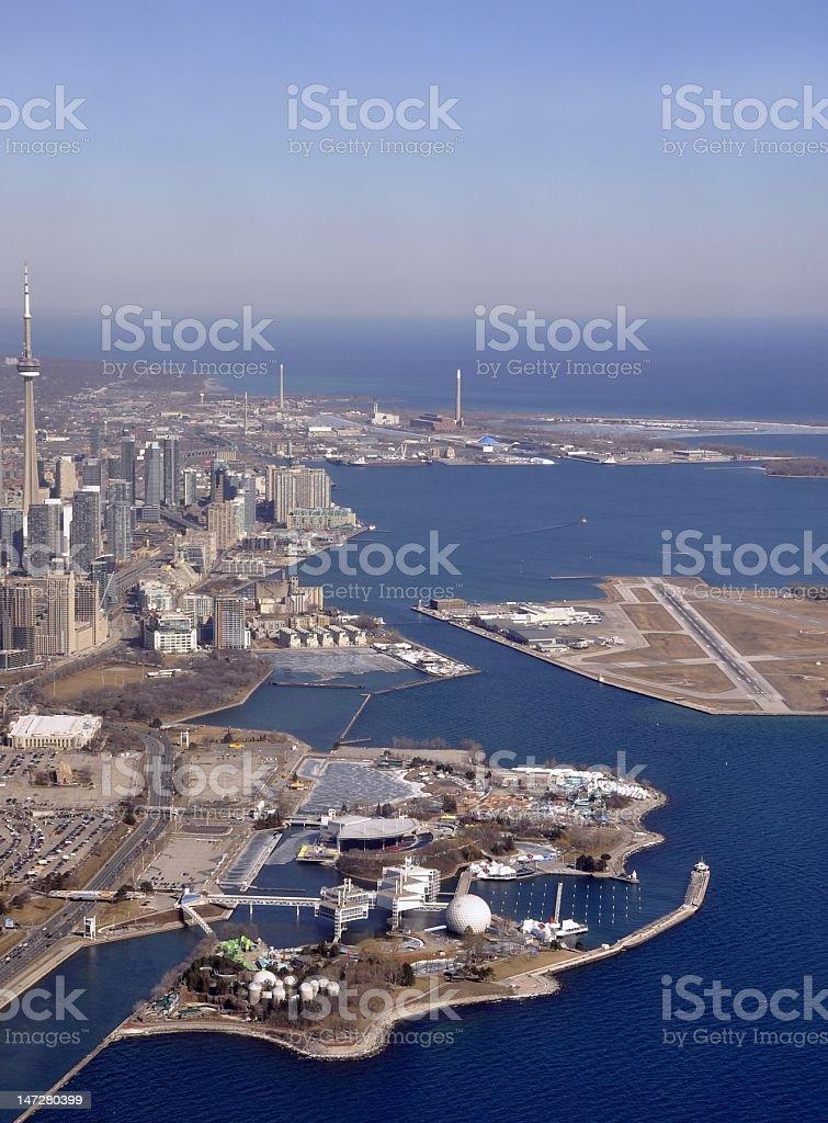Toronto Lake shore aerial royalty-free stock photo