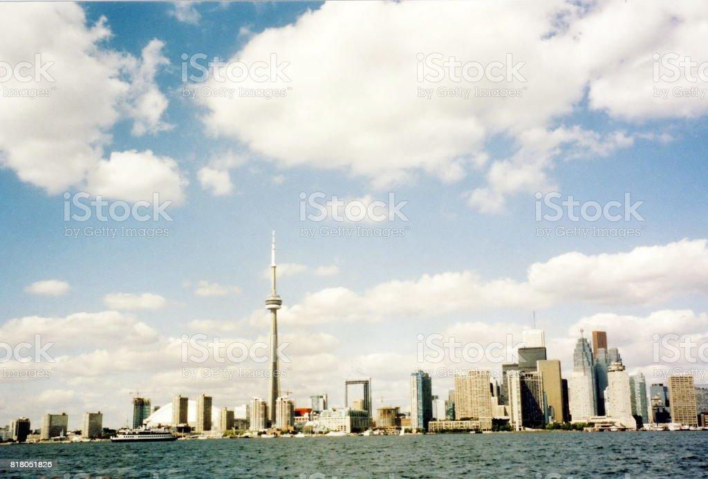 Toronto Lake Skyline 2002 stock photo