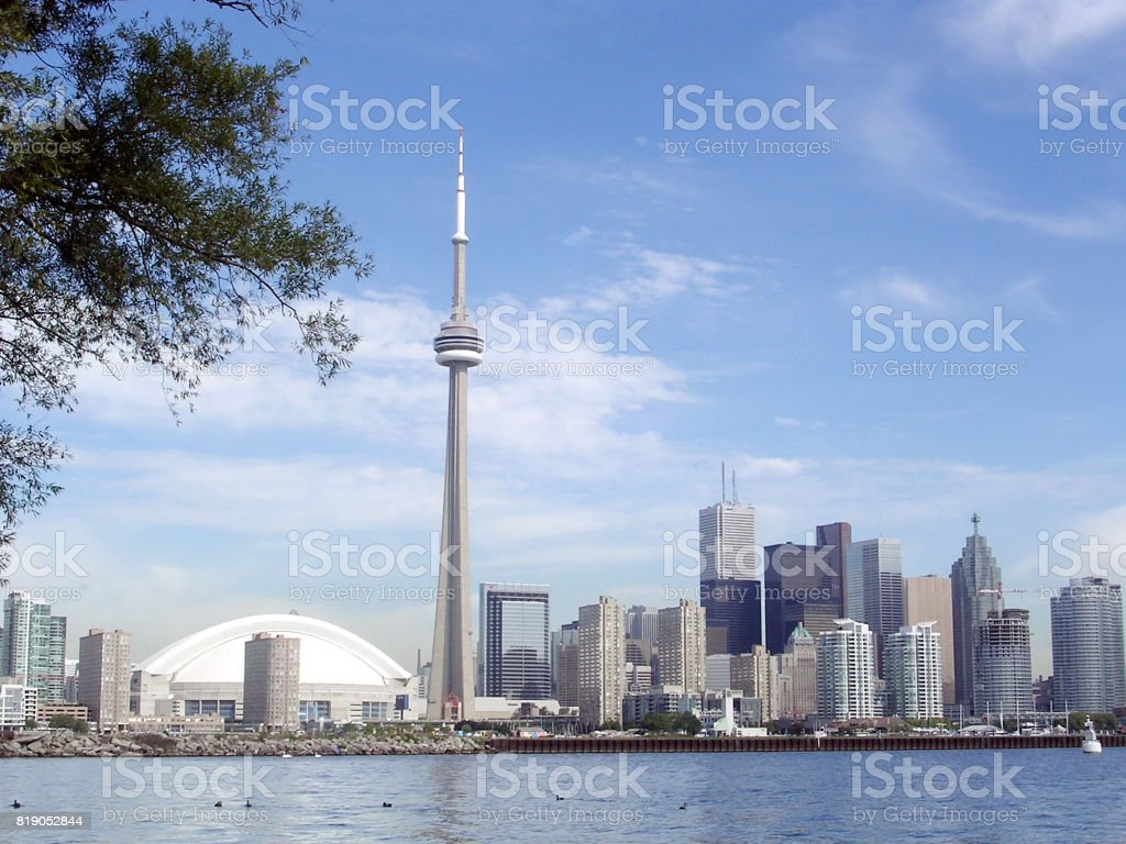 Toronto Lake view from islands 2004 stock photo