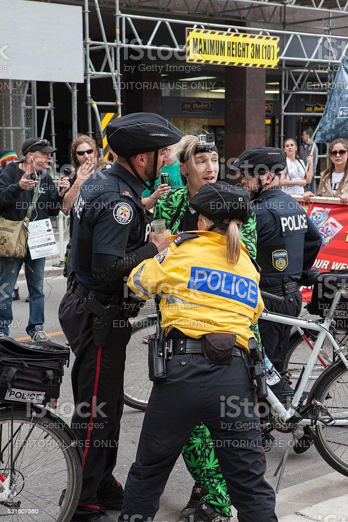 Toronto Marijuana March 2016 stock photo