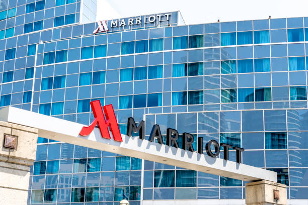 Toronto Marriott City Centre Hotel in the Rogers Centre in Toronto, Canada. stock photo