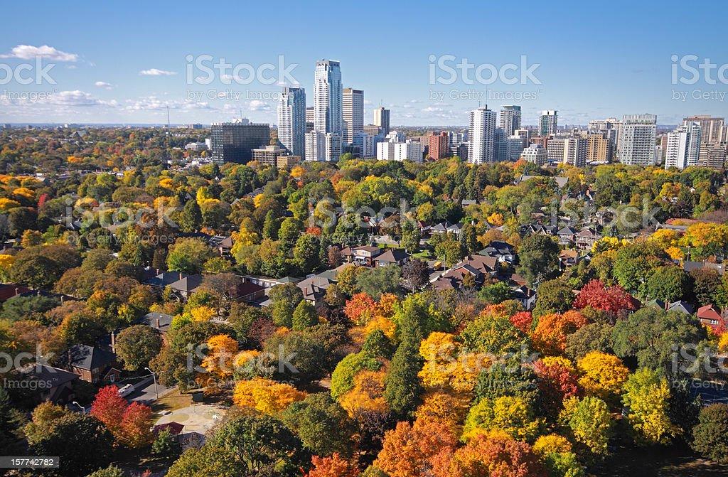 Toronto Midtown Autumn royalty-free stock photo
