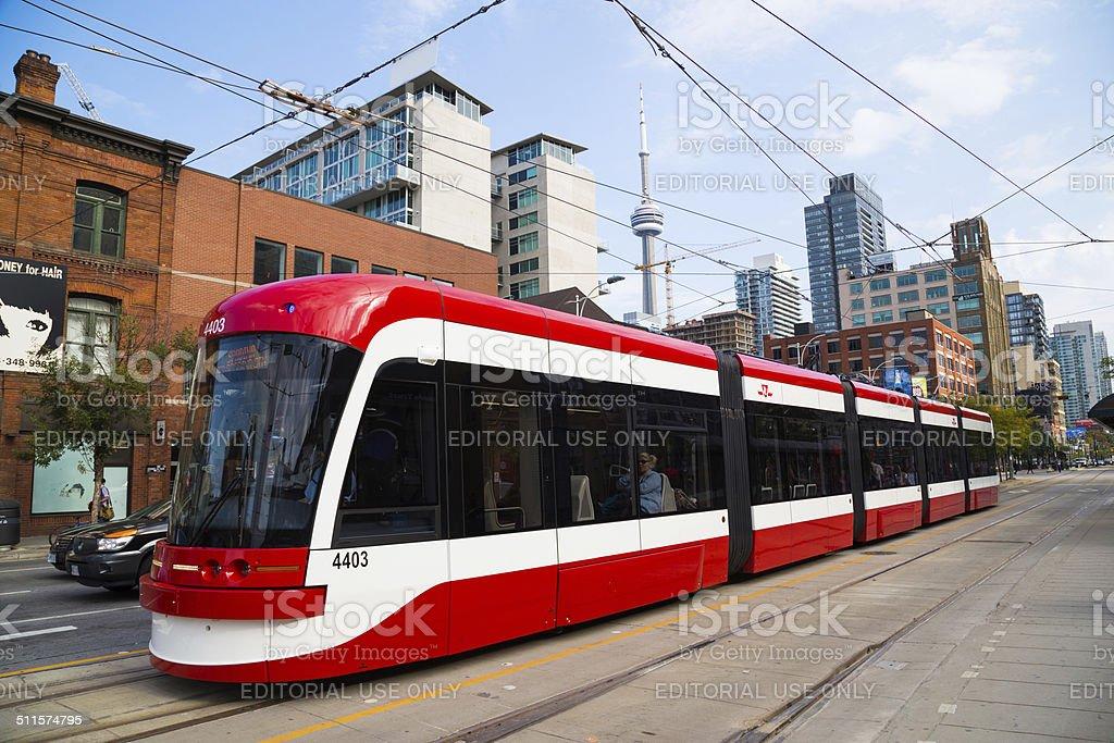 Toronto New Streetcars stock photo