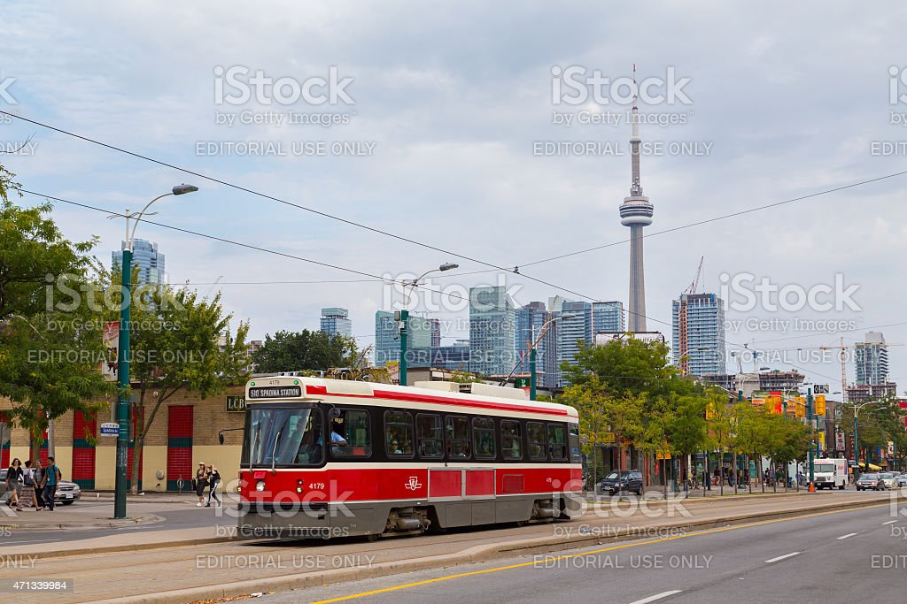 Toronto Old Streetcars stock photo