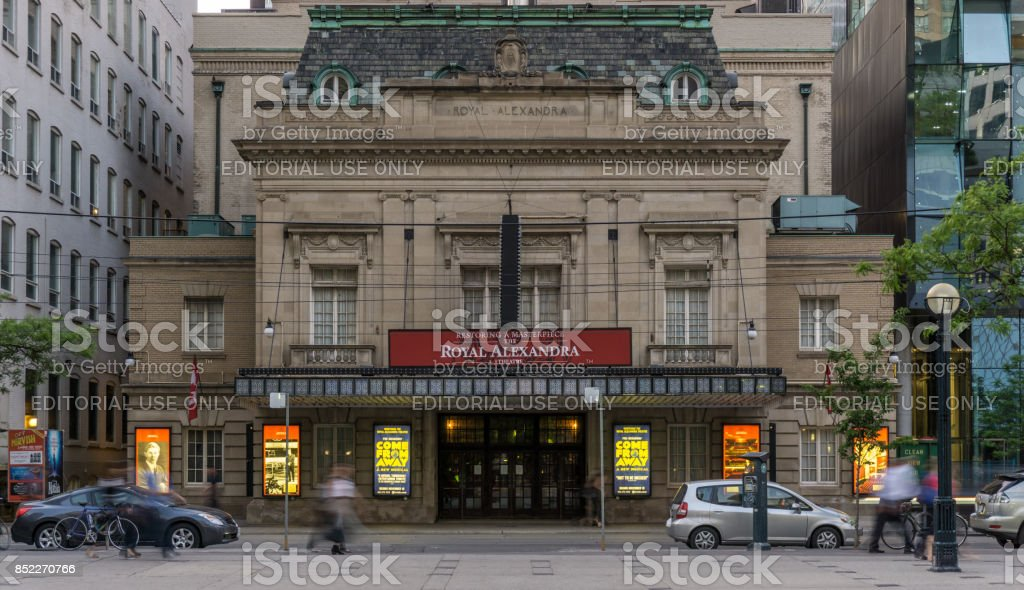 Toronto, ON, Canada June 2 2016 people and cars passing Royal Alexandra Theatre stock photo
