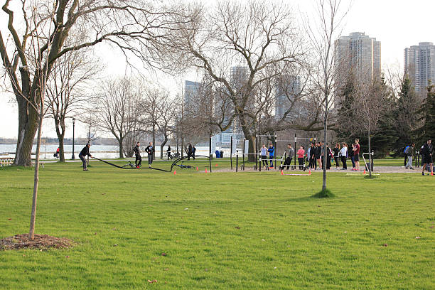 Toronto outdoor parks stock photo