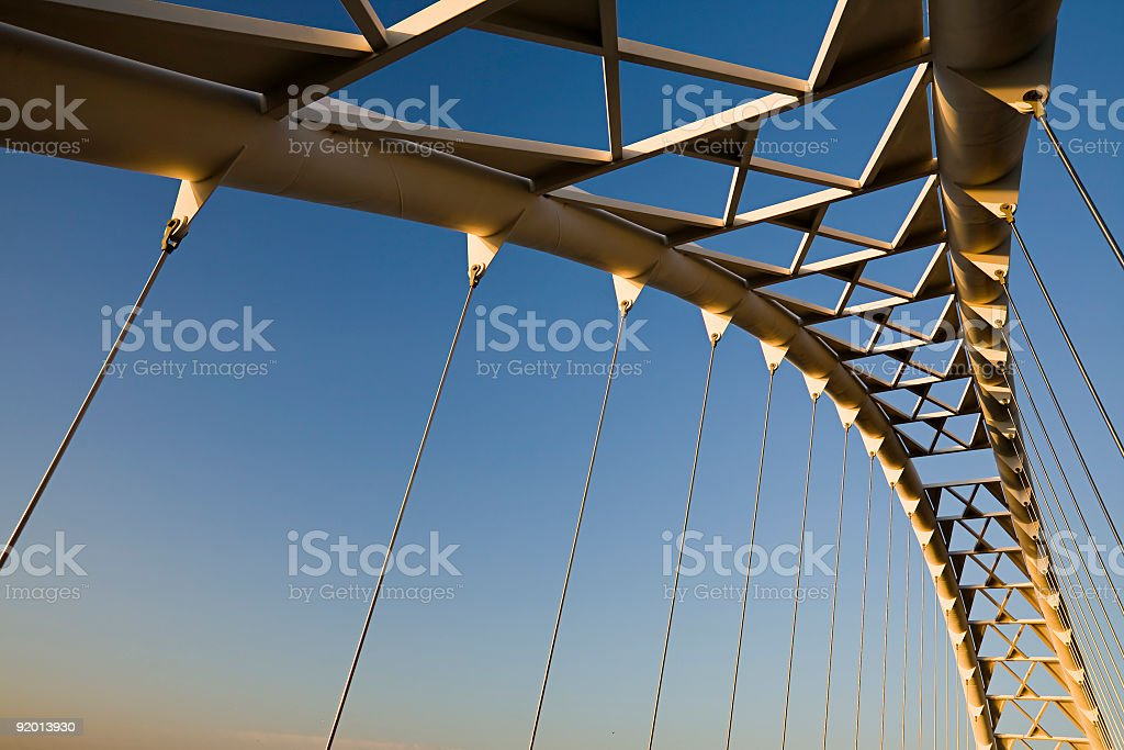Toronto Pedestrian Park Trail Shore Bridge stock photo