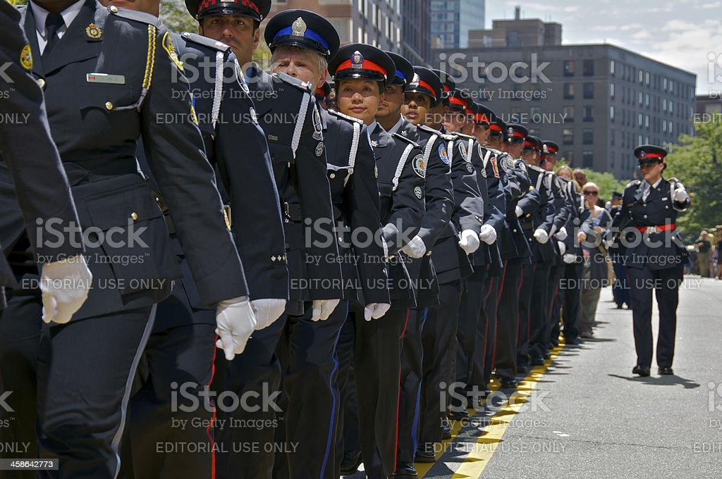 Toronto Police at NYPD Memorial ceremony, September 9, 2011, NYC stock photo