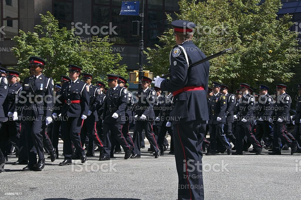 Toronto Police at NYPD Memorial ceremony, September 9, 2011, NYC royalty-free stock photo