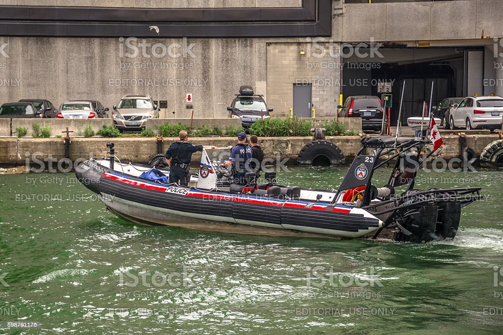 Toronto Police Patrolling on Lake Ontario stock photo