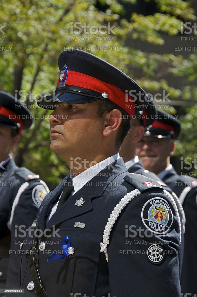 Toronto Policemen at NYPD Memorial ceremony, September 09, 2011, NYC stock photo