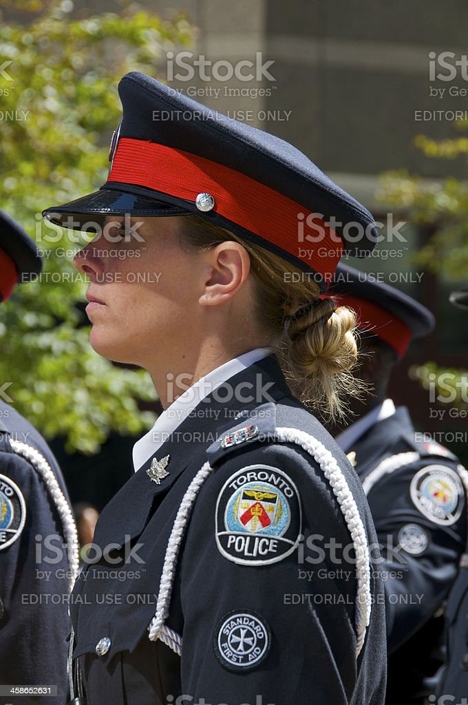 Toronto Policewoman at NYPD Memorial ceremony, September 09, 2011, NYC stock photo