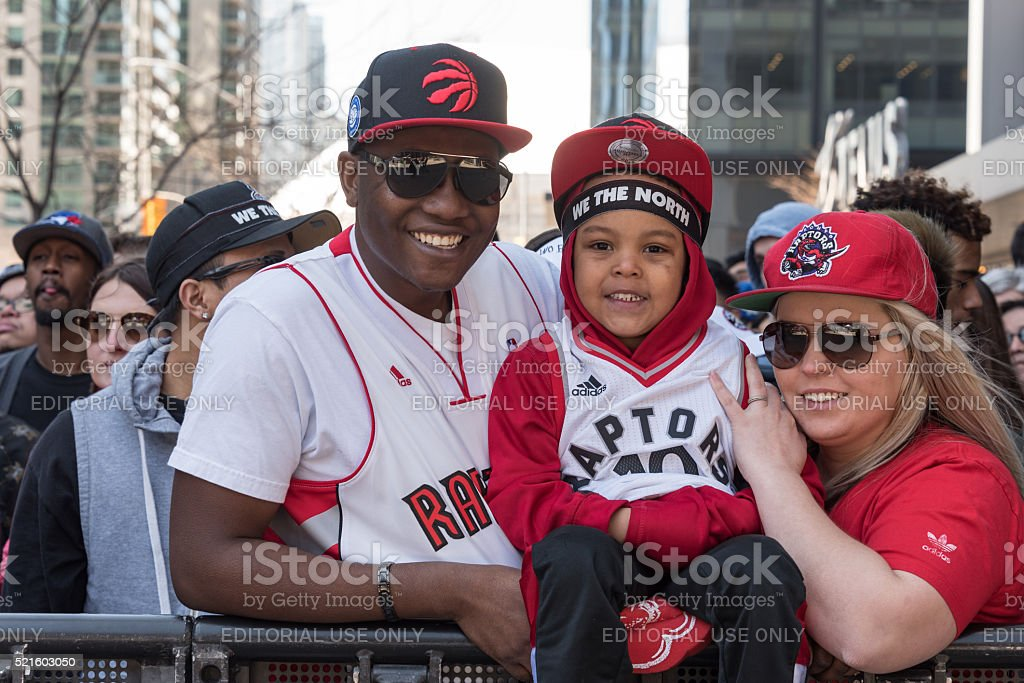 NBA: Toronto Raptors Play Off Game 1, Fans Outside ACC stock photo