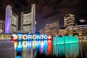 istock Toronto Sign in Nathan Phillips Square 1185052074