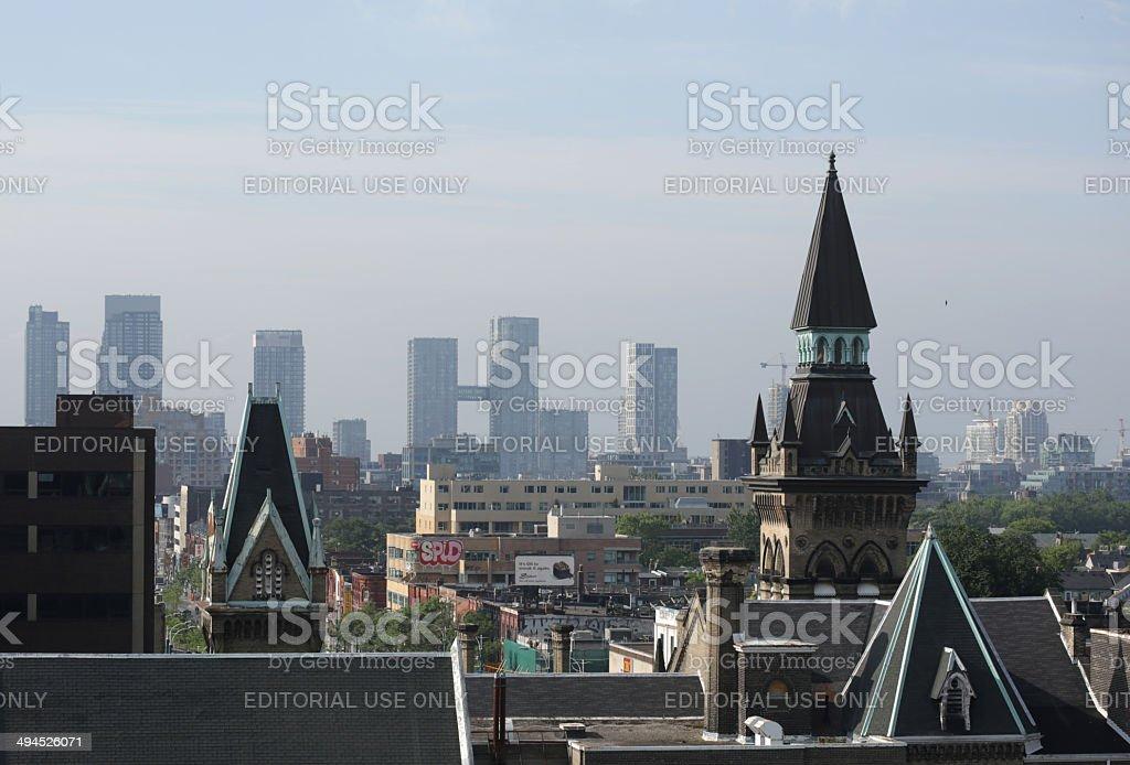 Toronto Skyline and Spadina Avenue in Summer stock photo