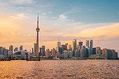 istock Toronto Skyline at sunset 1168982692