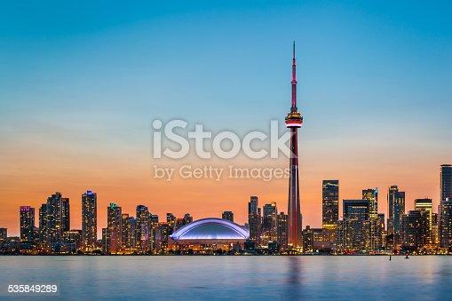 istock Toronto Skyline at twilight 535849289
